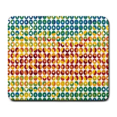Weather Blue Orange Green Yellow Circle Triangle Large Mousepads