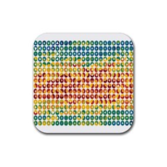 Weather Blue Orange Green Yellow Circle Triangle Rubber Coaster (square)  by Alisyart