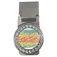 Weather Blue Orange Green Yellow Circle Triangle Money Clips (CZ)