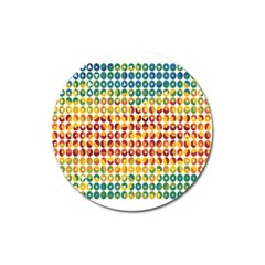 Weather Blue Orange Green Yellow Circle Triangle Magnet 3  (Round)