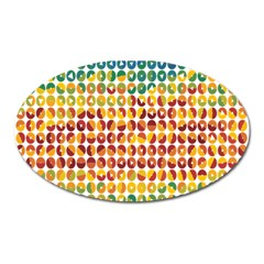 Weather Blue Orange Green Yellow Circle Triangle Oval Magnet
