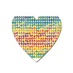 Weather Blue Orange Green Yellow Circle Triangle Heart Magnet