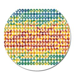 Weather Blue Orange Green Yellow Circle Triangle Magnet 5  (Round)