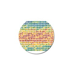 Weather Blue Orange Green Yellow Circle Triangle Golf Ball Marker (4 pack)