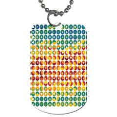 Weather Blue Orange Green Yellow Circle Triangle Dog Tag (Two Sides)