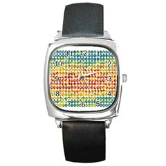Weather Blue Orange Green Yellow Circle Triangle Square Metal Watch