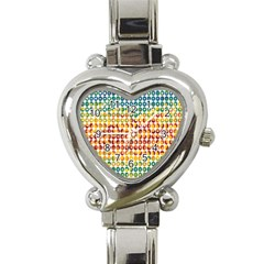 Weather Blue Orange Green Yellow Circle Triangle Heart Italian Charm Watch by Alisyart