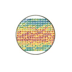 Weather Blue Orange Green Yellow Circle Triangle Hat Clip Ball Marker (4 pack)