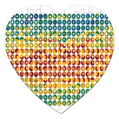 Weather Blue Orange Green Yellow Circle Triangle Jigsaw Puzzle (Heart)