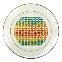 Weather Blue Orange Green Yellow Circle Triangle Porcelain Plates