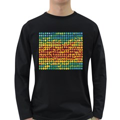 Weather Blue Orange Green Yellow Circle Triangle Long Sleeve Dark T-Shirts