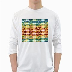 Weather Blue Orange Green Yellow Circle Triangle White Long Sleeve T-Shirts