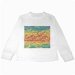 Weather Blue Orange Green Yellow Circle Triangle Kids Long Sleeve T Shirts by Alisyart
