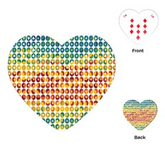 Weather Blue Orange Green Yellow Circle Triangle Playing Cards (Heart)