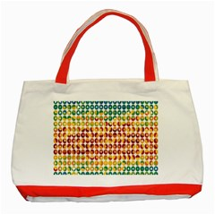 Weather Blue Orange Green Yellow Circle Triangle Classic Tote Bag (Red)