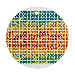 Weather Blue Orange Green Yellow Circle Triangle Round Ornament (Two Sides)
