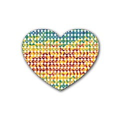 Weather Blue Orange Green Yellow Circle Triangle Heart Coaster (4 pack)