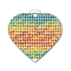 Weather Blue Orange Green Yellow Circle Triangle Dog Tag Heart (Two Sides)