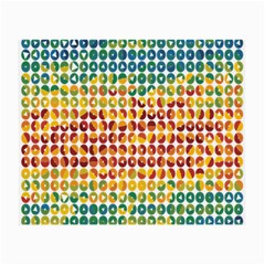 Weather Blue Orange Green Yellow Circle Triangle Small Glasses Cloth (2-Side)