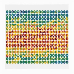 Weather Blue Orange Green Yellow Circle Triangle Medium Glasses Cloth (2-Side)