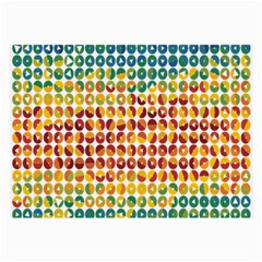 Weather Blue Orange Green Yellow Circle Triangle Large Glasses Cloth (2-Side)