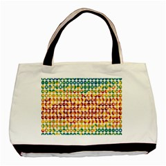 Weather Blue Orange Green Yellow Circle Triangle Basic Tote Bag (Two Sides)