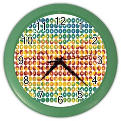 Weather Blue Orange Green Yellow Circle Triangle Color Wall Clocks