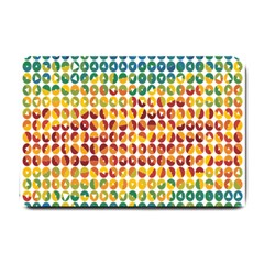 Weather Blue Orange Green Yellow Circle Triangle Small Doormat