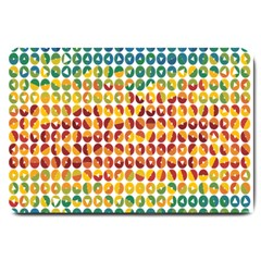 Weather Blue Orange Green Yellow Circle Triangle Large Doormat