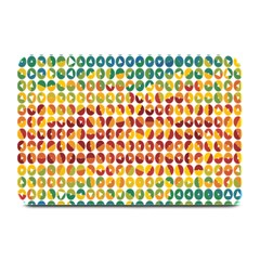 Weather Blue Orange Green Yellow Circle Triangle Plate Mats