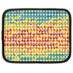 Weather Blue Orange Green Yellow Circle Triangle Netbook Case (Large)