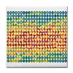 Weather Blue Orange Green Yellow Circle Triangle Face Towel