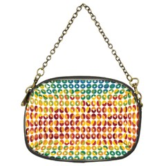 Weather Blue Orange Green Yellow Circle Triangle Chain Purses (Two Sides)