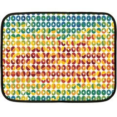 Weather Blue Orange Green Yellow Circle Triangle Double Sided Fleece Blanket (Mini)