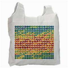 Weather Blue Orange Green Yellow Circle Triangle Recycle Bag (Two Side)