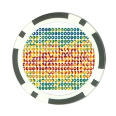 Weather Blue Orange Green Yellow Circle Triangle Poker Chip Card Guard (10 pack)