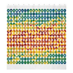 Weather Blue Orange Green Yellow Circle Triangle Shower Curtain 66  x 72  (Large)