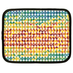 Weather Blue Orange Green Yellow Circle Triangle Netbook Case (XL)