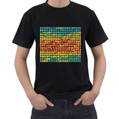 Weather Blue Orange Green Yellow Circle Triangle Men s T Shirt (black) by Alisyart