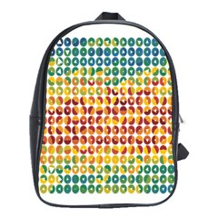 Weather Blue Orange Green Yellow Circle Triangle School Bags(Large)
