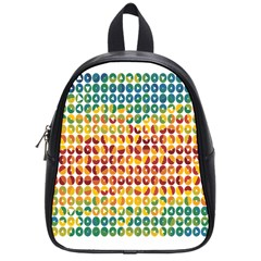 Weather Blue Orange Green Yellow Circle Triangle School Bags (Small)