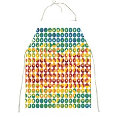 Weather Blue Orange Green Yellow Circle Triangle Full Print Aprons