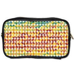 Weather Blue Orange Green Yellow Circle Triangle Toiletries Bags 2-Side
