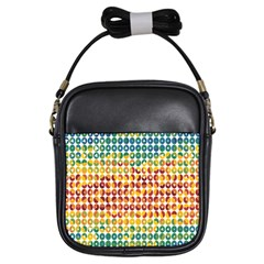 Weather Blue Orange Green Yellow Circle Triangle Girls Sling Bags