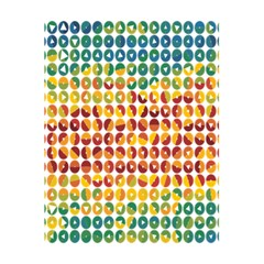 Weather Blue Orange Green Yellow Circle Triangle 5.5  x 8.5  Notebooks