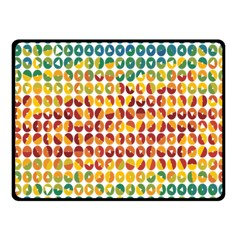 Weather Blue Orange Green Yellow Circle Triangle Fleece Blanket (small) by Alisyart