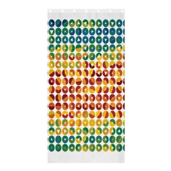 Weather Blue Orange Green Yellow Circle Triangle Shower Curtain 36  x 72  (Stall)