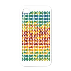Weather Blue Orange Green Yellow Circle Triangle Apple iPhone 4 Case (White)