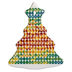 Weather Blue Orange Green Yellow Circle Triangle Ornament (Christmas Tree)