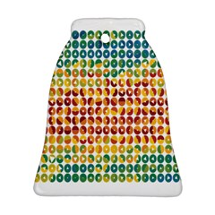 Weather Blue Orange Green Yellow Circle Triangle Ornament (Bell)